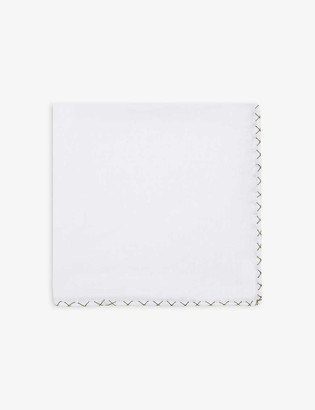 Eleventy Textured linen pocket square