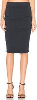 Monrow Shirred Skirt