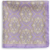 Robert Talbott Men's Medallion Silk Pocket Square