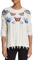 Sunset + Spring Butterfly Cable-Knit Sweater - 100% Exclusive