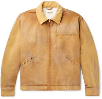 Fear Of God Suede-Trimmed Cotton-Canvas Blouson Jacket