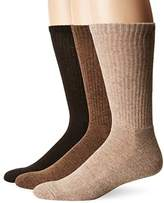 Chaps Men's Assorted Solid Mock Rib Casual Crew Socks (3 Pack)