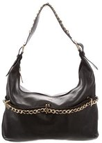 Burberry Chain-Link Pebbled Leather Hobo