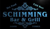 AdvPro Name u39816-b SCHIMMING Family Name Bar & Grill Home Brew Beer Neon Sign