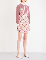Mary Katrantzou Rose-print silk dress