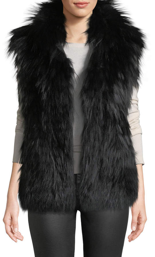 Gorski Horizontal-Layered Fox Fur Vest