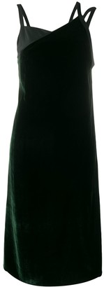 Helmut Lang Front Velvet Slip Dress
