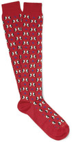 Etro Penguin-patterned Cotton-blend Socks - Red
