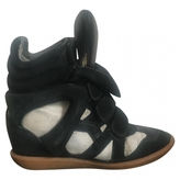 Isabel Marant Black Suede Trainers