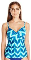 LaBlanca La Blanca Women's New Wave A-D Cup Adjustable Tankini with Convertible Straps