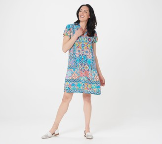 Tolani Collection Regular Collared Shirt Dress