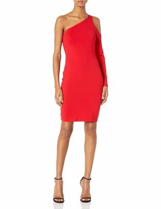 Susana Monaco Women's Dina One-Sleeved Open Shoulder Dress