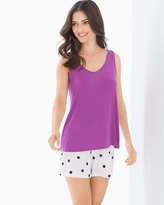 Soma Intimates Tank with Shorts Pajama Set Hidden Kitty Rio