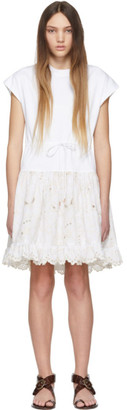 See by Chloe White T-Shirt Dress