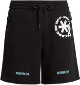Off-White Logo-print cotton-jersey shorts