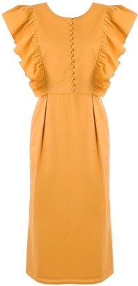 Andrea Marques ruffled button-up dress