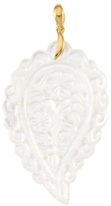 Tamara Comolli India 18K Yellow Gold & White Mother-Of-Pearl Large Leaf Pendant