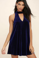 Do & Be Sweet Song Plum Purple Velvet Swing Dress