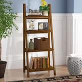 Andover Mills Bordelon Slatted Ladder Bookcase Color: Warm Brown
