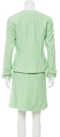 Chanel Bouclé Logo-Adorned Skirt Suit