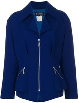 Thierry Mugler Pre Owned semi-peplum fitted jacket