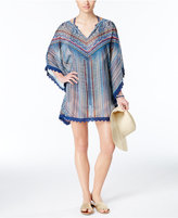 Jessica Simpson Dusty Road Printed Lace-Trim Tunic Cover-Up