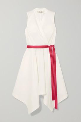 Diane von Furstenberg Marlene Belted Wrap-effect Cotton-blend Dress