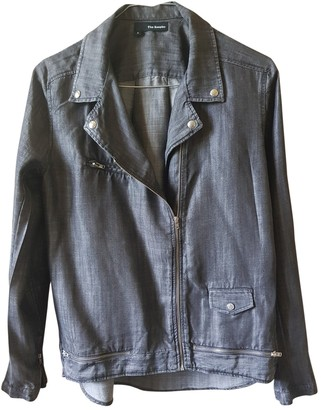 The Kooples Grey Leather Jacket for Women