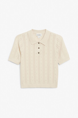 Monki Polo knit top