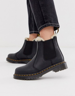 Dr. Martens 2976 Leonore lined leather ankle boots in black
