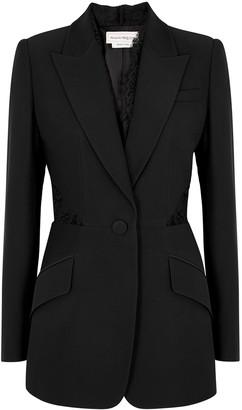 Alexander McQueen Black Lace-trimmed Blazer