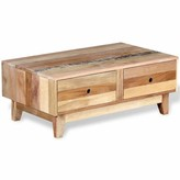 Solid Wood Coffee Table with Storage Union Rustic