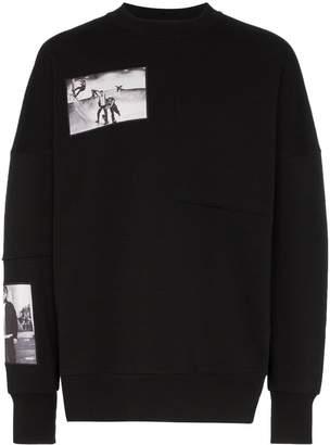 Tony Hawk Signature Line X Corbijn Graphic Prints Crew Neck Cotton Sweatshirt