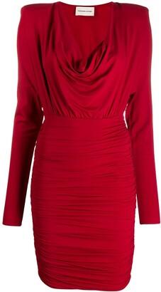 Alexandre Vauthier Draped Neck Jersey Dress