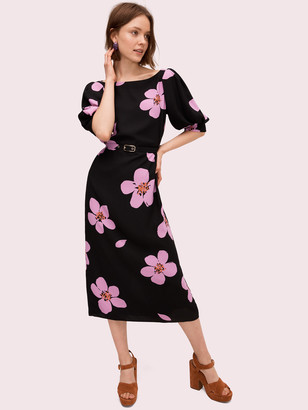 Kate Spade Grand Flora Button Back Dress