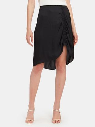 Zadig & Voltaire Jiji Satin Asymmetrical Midi Skirt