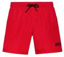 HUGO BOSS Quick-dry swim shorts with reversed-logo print