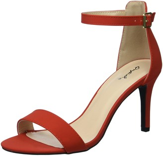 Qupid Women's Heeled Sandal