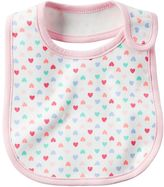 Carter's Baby Girl Girly Pattern Bib