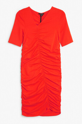 Monki Ruched detail dress