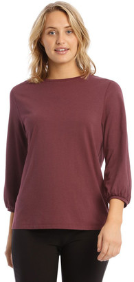 Piper Solid Bubble Sleeve Tee