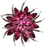 Bai You Mei Womens Brooch Pin With Fashion Jewelry Fancy Vintage Rhinestone Bling Crystal Bauhinia Flower
