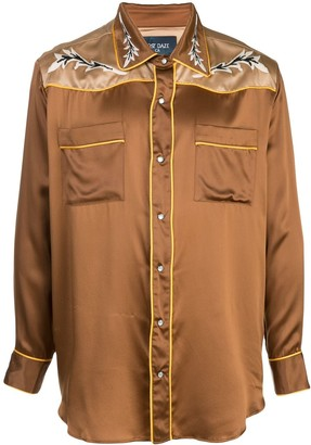 Lost Daze Western loose-fit silk shirt