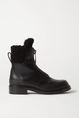 Chloé Roy Shearling-lined Leather Ankle Boots - Black