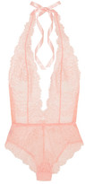 L'Agent by Agent Provocateur Grace Lace And Stretch-tulle Bodysuit - Pastel pink