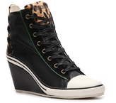 Just Cavalli Leather Wedge Sneaker