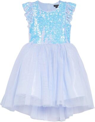 Zunie Kids' Sequin Cap Sleeve Dress