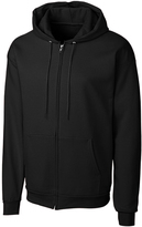 Clique Black Fleece Zip-Up Hoodie - Unisex