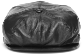Gabriela Hearst Tremelo leather newsboy cap