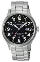 J.Springs J. Springs BBH120 Men's Quartz Analogue Watch with Luminous Hands - Stainless Steel Strap, Silver